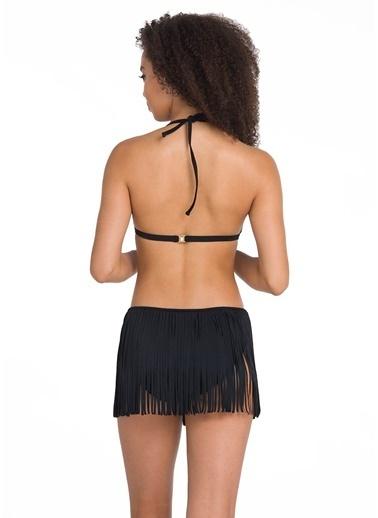 Dagi Püsküllü Üçgen Bikini Takım Siyah